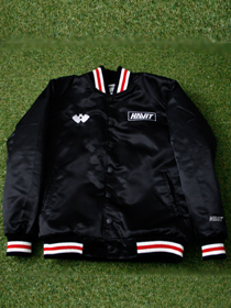 [HVO_003] WAR & VICTORY STADIUM JACKET (BLACK)